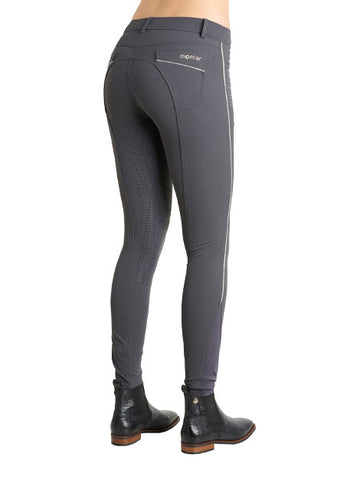 Montar Aria Grey Full Grip Seat Sparkly Breeches
