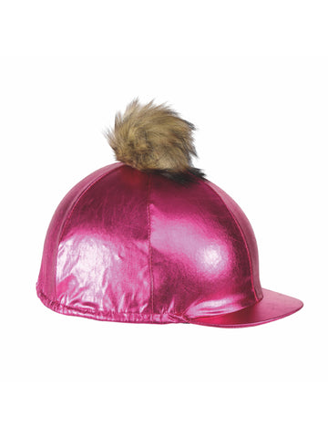 Metallic  Pom Pom Hat Cover