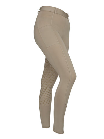 Aubrion Albany Riding Tights for Children - Beige