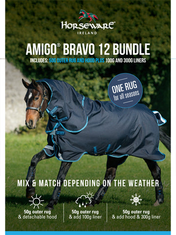 Amigo Bravo 12 Plus Turnout Bundle with Liners - 50g, 150g and 450g