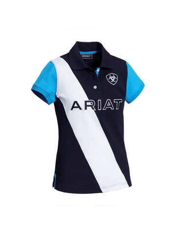 Ariat Taryn Polo for Kids Navy/Nautilus