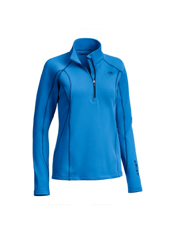 Ariat Women's Conquest 1/2 Zip Sweatshirt - Blue Dawn