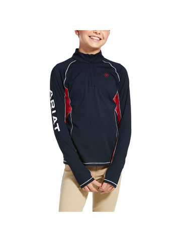 Ariat Girls Lowell 1/4 Zip Baselayer Team
