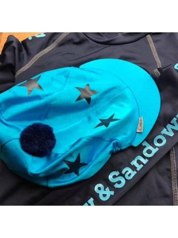 Bisley Pony Club Stars and Pom Pom Hat Cover