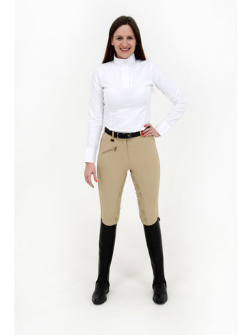 Rugged Horse Gel Seat Beige Breeches