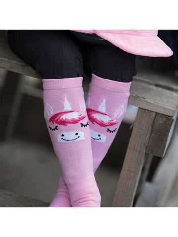 Child's Unicorn Long Riding Socks