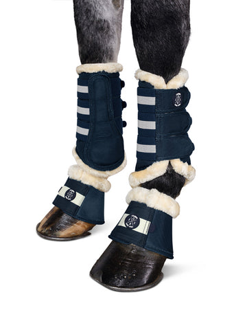 Eskadron Classic Collection Navy Faux Fur Overreach Boots