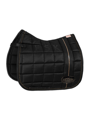 Eskadron Heritage Big Square Glossy Saddle Pad - Black