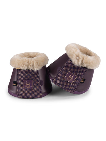 Eskadron Heritage Faux Fur Overreach Boots - Deep Berry