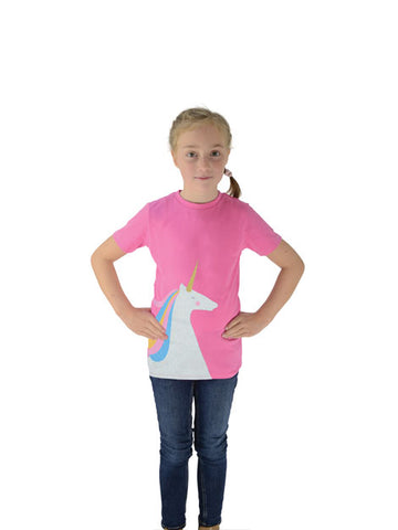 Magical Glitter Unicorn T-Shirt - Pink