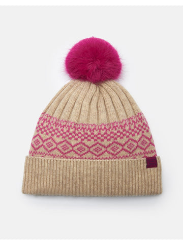 Joules Elsa Fair Isle Bobble Hat
