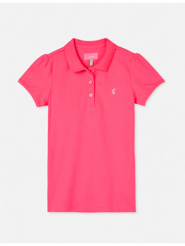 Joules Ginny Kids Pink Polo Shirt