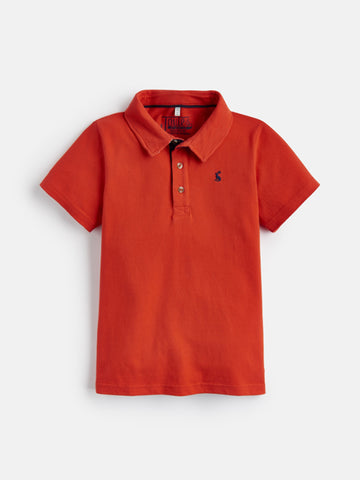 Joules Tom Flag Chilli Red Polo Shirt