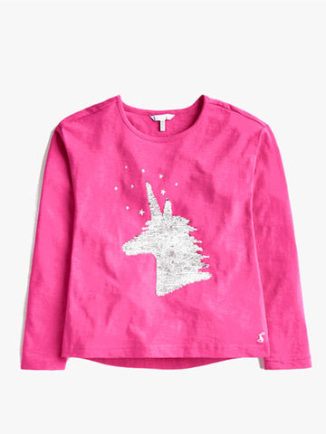 Magic Sequin Unicorn Raya Tee by Joules