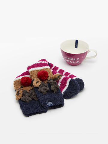 Christmas Mug and Sock Gift Set by Joules