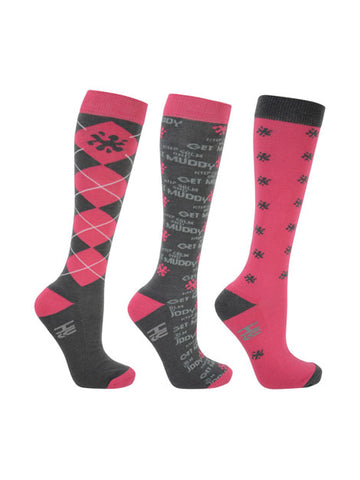 Keep Calm and Get Muddy Long Riding Socks