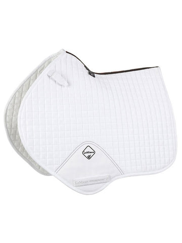 Le Mieux Prosport Suede Close Contact White Saddle Pad