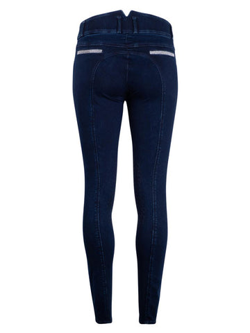 Montar Aubrey High Waist Crystal Denim Breeches