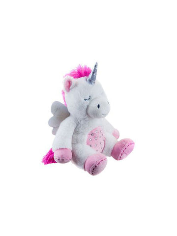 Cuddly Plush Unicorn with Silver Wings