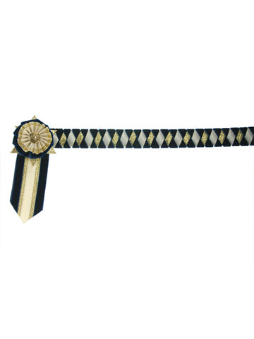 Showquest Boston Show Browband with Rosettes