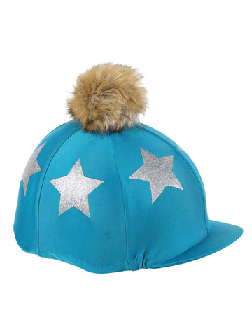 Glitter Star Pom Pom Hat Cover