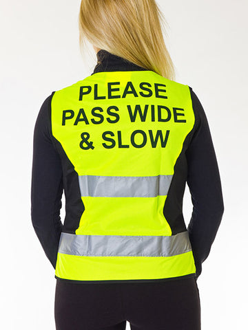 Hi Viz Waistcoat -Please Pass Slow and Wide