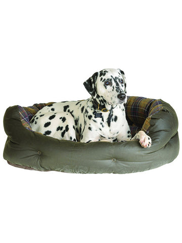 Barbour Dog Bed in Wax Cotton