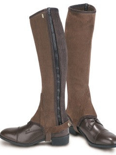 Brown Tredstep Classic Suede Half Chaps