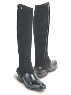 Black Tredstep Classic Suede Half Chaps