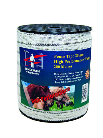 White Electric Fence Tape