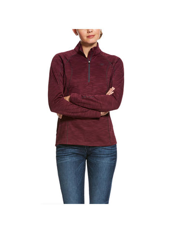 Ariat Conquest Zip Neck Tek Fleece - Grape Wine
