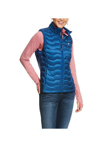 Ariat Ideal Down Vest - Vertical Blue