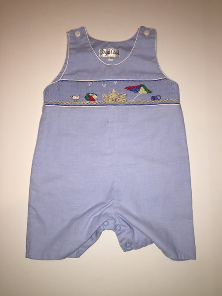 Royal Child Smocked Beach Shortall