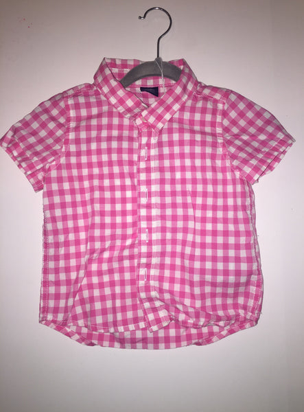 Baby Gap Pink Plaid Button Up Shirt