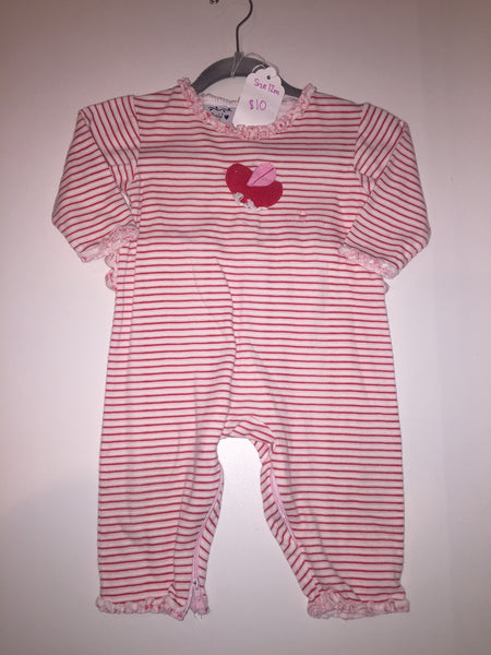 New Potatoes Long Sleeve Stripe Romper