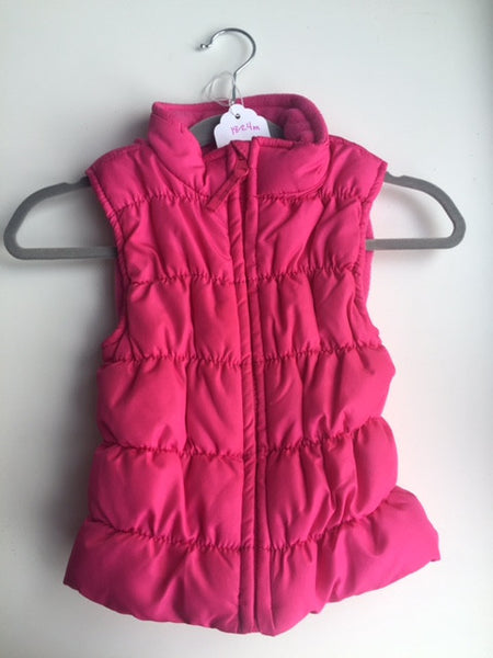 Hot Pink Lightweight Puffer Vest