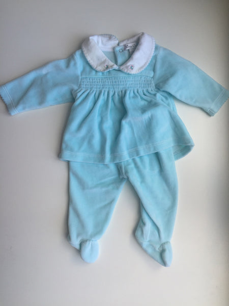 Kissy Kissy Aqua Blue Velour 2 piece outfit