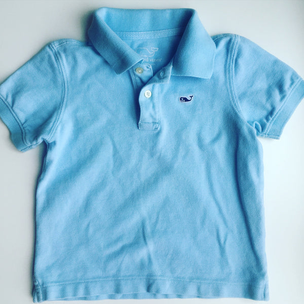 Vineyard Vines Carolina Blue Polo
