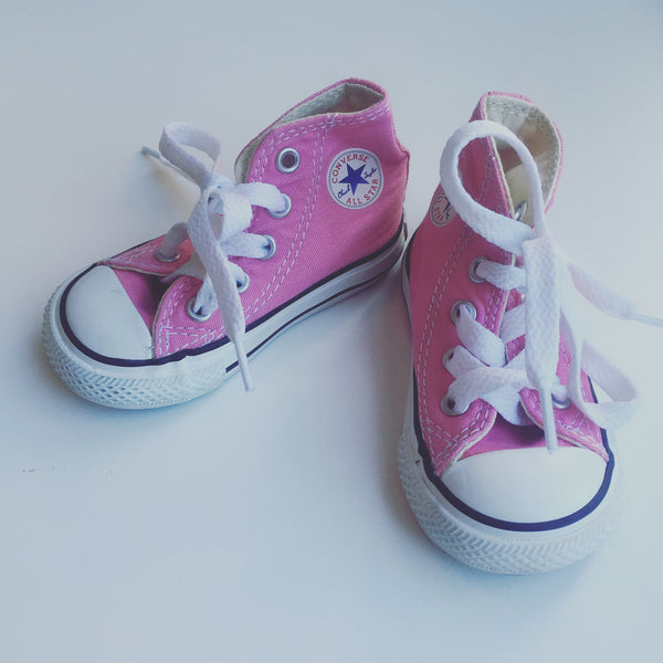 Bubble Gum Pink High Top Converse