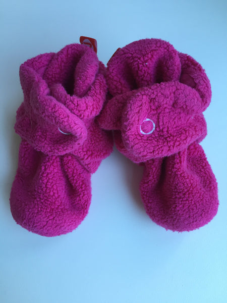 Hot Pink Zutano Booties Size 3 months