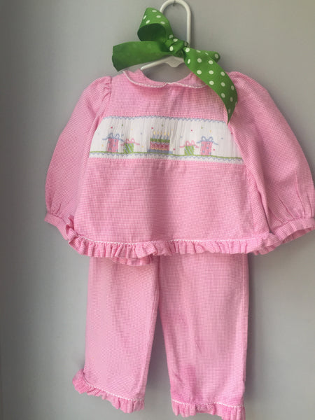 Pink Smocked Party Outfit