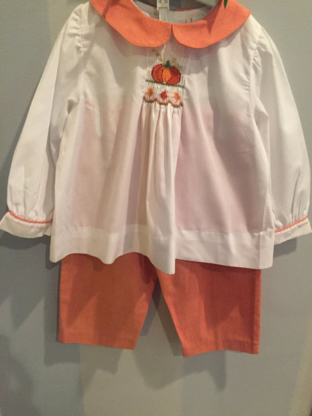 Orient Express Fall Smocked Pumpkin Outfit
