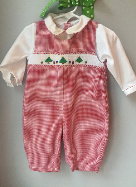 Petit Ami Christmas Trees Longall with matching collared shirt