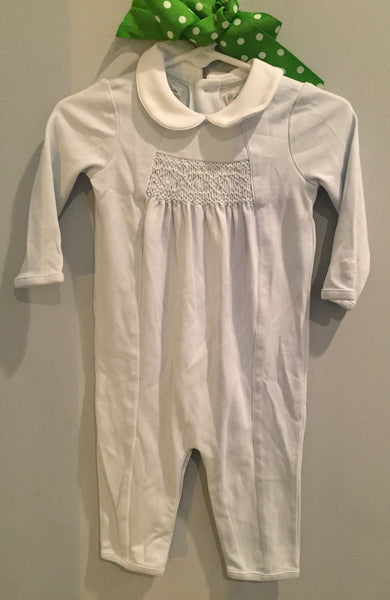 Light Blue Ralph Lauren Smocked Romper