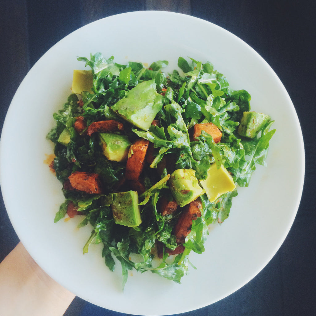 Roasted Sweet Potato and Arugula Salad (Recipe) – Utzy ...