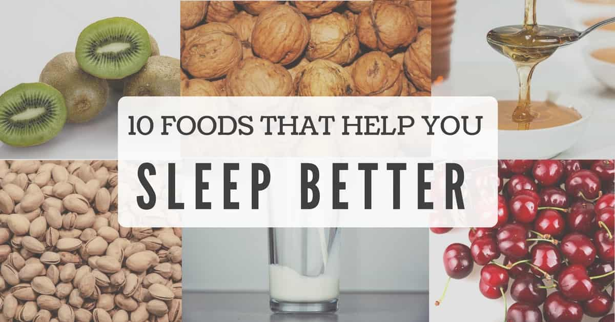 foods that help you fall asleep