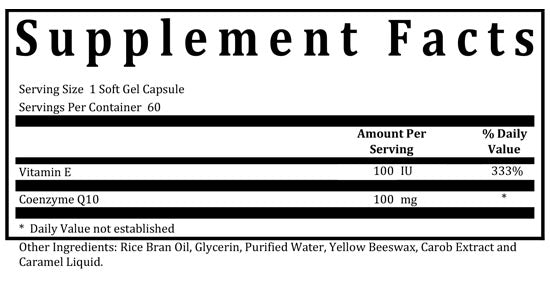 coq-10 supplement facts box
