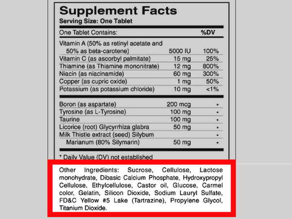 "Supplements ""Other Ingredients"""