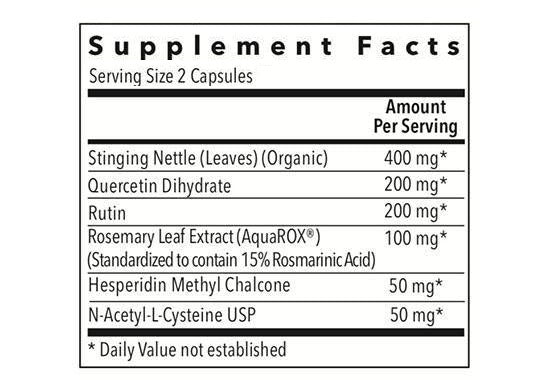 Allurtica supplements facts box