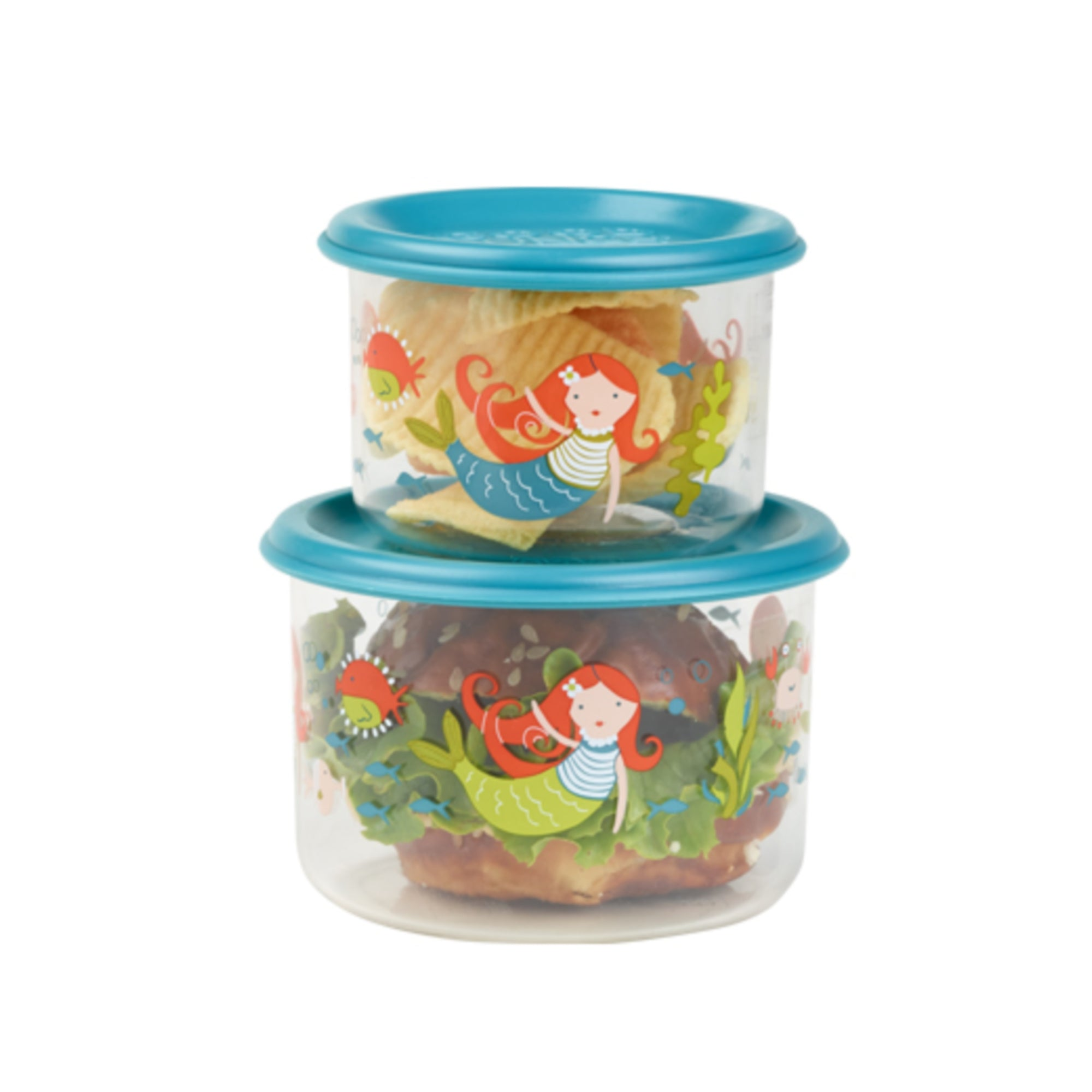 2 PACK SNACK CONTAINER -- ISLA THE MERMAID